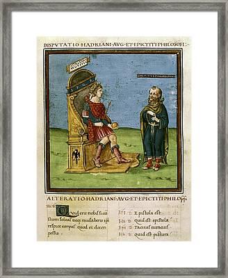 Dispute Between The Emperor Adrian Framed Print