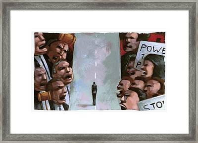 Dispute Framed Print