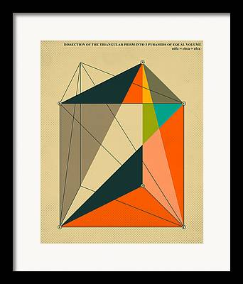 Geometric Modern Art Framed Prints