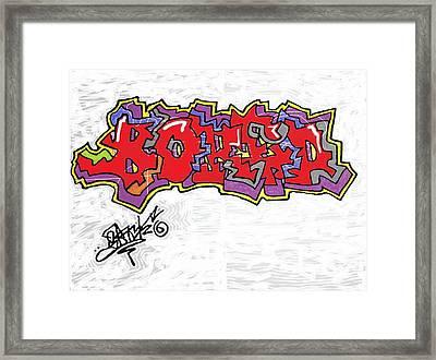 Dissonance Framed Print by Jose Melecio