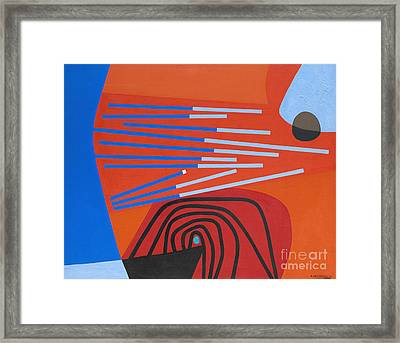 Dissonances Number 1 By Enrico Prampolini Framed Print by Roberto Morgenthaler