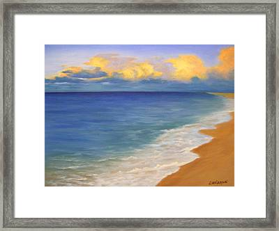 Distant Clouds Framed Print by Francine Henderson