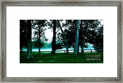 Distant Fog Framed Print