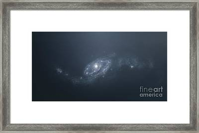 Distant Galaxy Visible From Space Framed Print by Tomasz Dabrowski