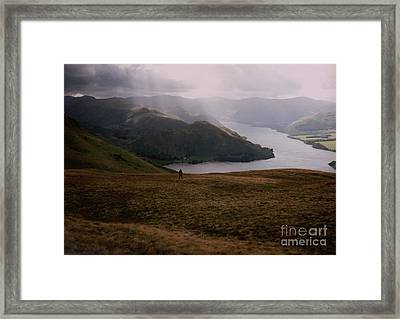 Distant Hills Cumbria Framed Print