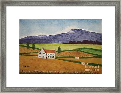 Distant Hills Framed Print