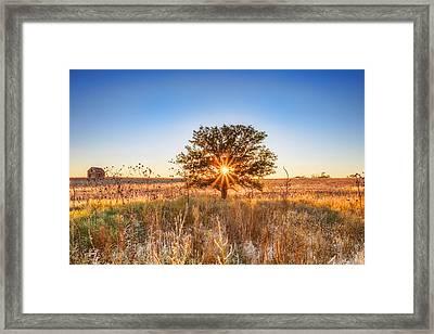 Distant Homestead Framed Print
