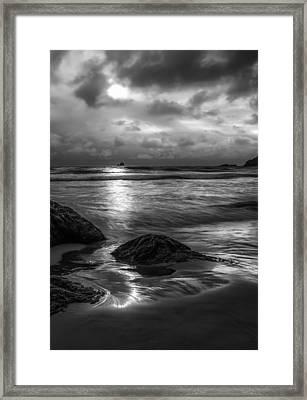 Distant Lighthouse Framed Print