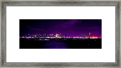 Distant Lights Framed Print by Michael Guirguis