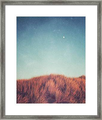 Distant Moon Framed Print