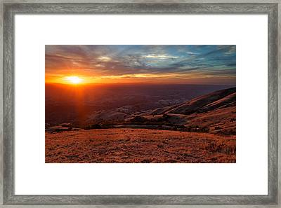 Framed Print featuring the photograph Mount Diablo - Distant by Francesco Emanuele Carucci