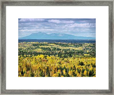 Framed Print featuring the photograph Distant Mountain by Gene Cyr