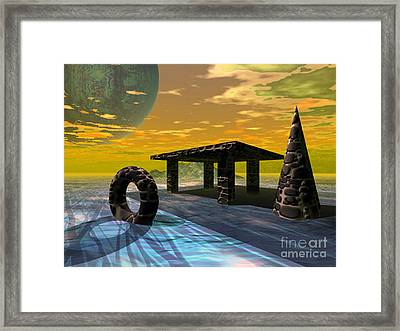 Distant Ranges Framed Print by Asegia