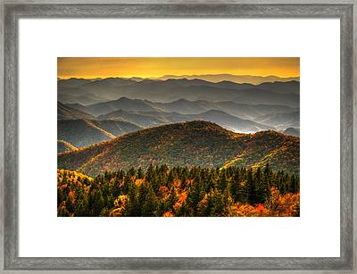 Distant Ridges Framed Print by Serge Skiba
