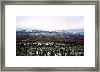 Distant Rockies Framed Print