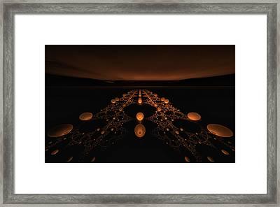 Distant Runway Framed Print by GJ Blackman