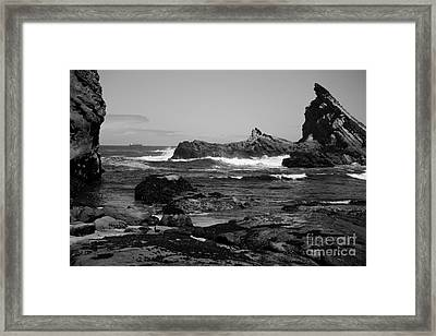Distant Ship Framed Print