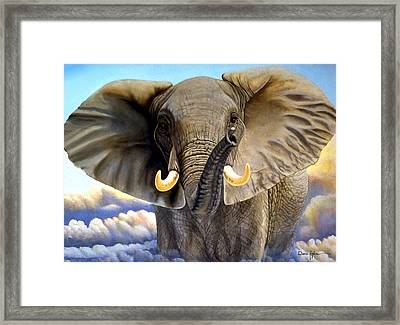 Da108 Distant Thunder By Daniel Adams Framed Print