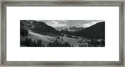 Distant View Of A Church, St. Magdelena Framed Print by Panoramic Images