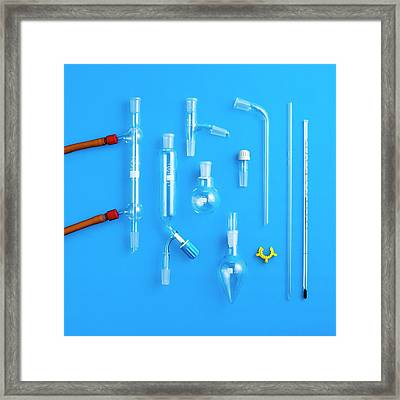 Distillation Equipment Framed Print by Science Photo Library