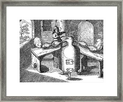 Distillation Of Nitric Acid Framed Print by Universal History Archive/uig