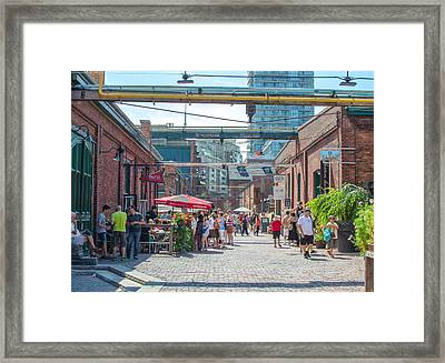 Distillery District Framed Print by Eric Dewar