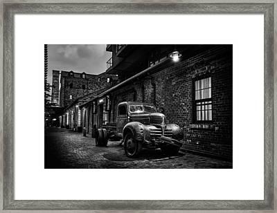 Distillery District Toronto Mono Framed Print
