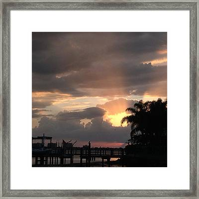 Distinct Rays Framed Print