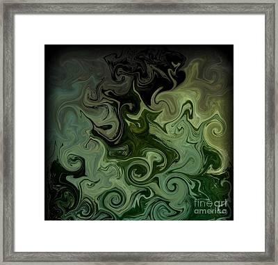 Distort Framed Print by Michael Grubb