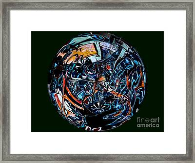 Distorted Earth - No.8345 Framed Print
