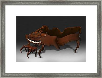 Distorted Grand Piano Framed Print