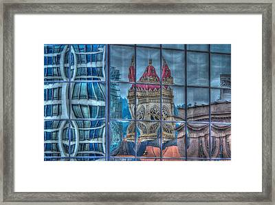 Distorted Portland Framed Print