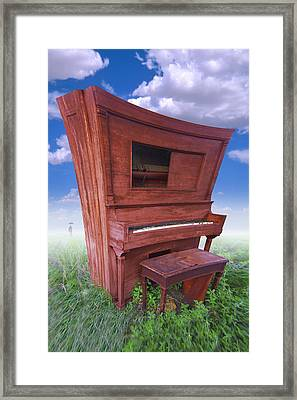 Distorted Upright Piano Framed Print