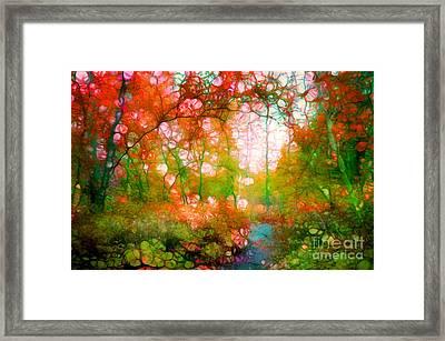 Distortions Of Autumn Framed Print by Tara Turner