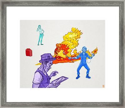 Distracted Framed Print by Baird Hoffmire
