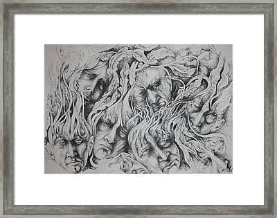 Distress Framed Print by Moshfegh Rakhsha
