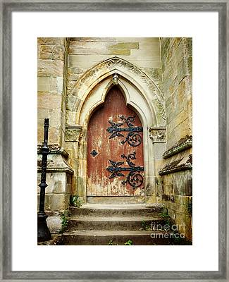 Distressed Door Framed Print