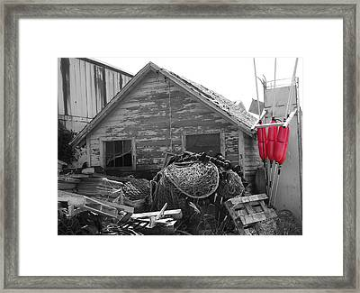 Distressed Fishery Framed Print