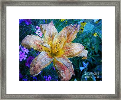 Distressed Lily Framed Print