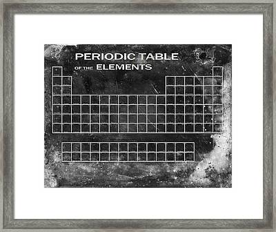 Distressed Periodic Table Framed Print