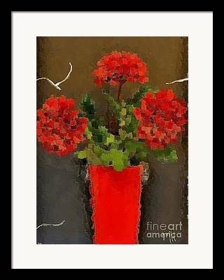 Red Azalias Framed Prints
