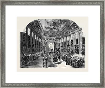 Distribution Of The Nelson Medals, In The Painted Hall Framed Print by English School