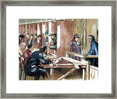 Distribution Of Tickets For Soup Framed Print