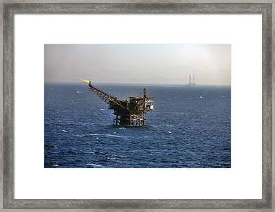 Disused Oil Well, Red Sea Framed Print