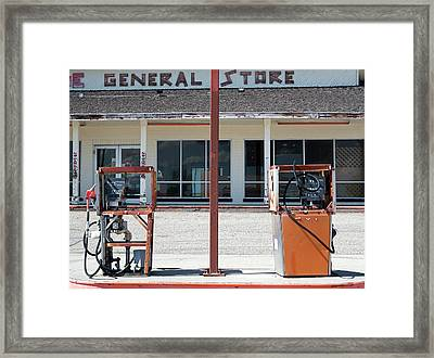 Disused Petrol Pumps Framed Print