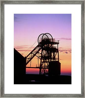 Disused Pit Head In Whitehaven Framed Print by Martin Bond/science Photo Library