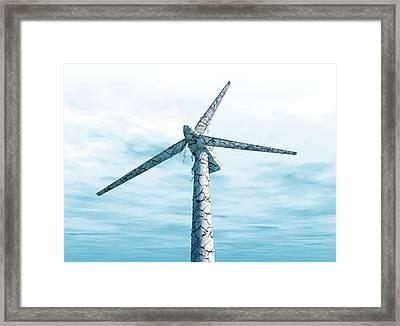 Disused Wind Turbine Framed Print