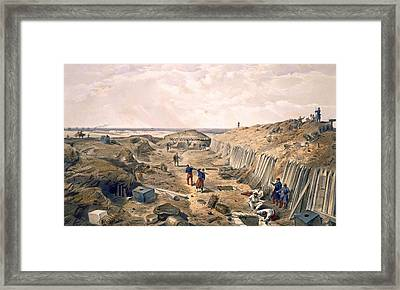 Ditch Of The Bastion Du Mat, Plate Framed Print by William 'Crimea' Simpson