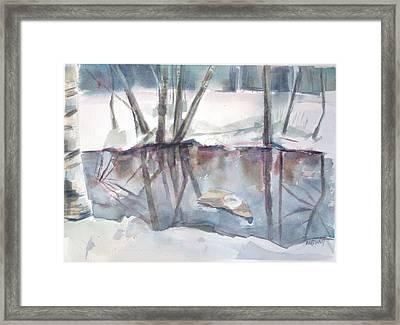 Ditch Pool April Framed Print