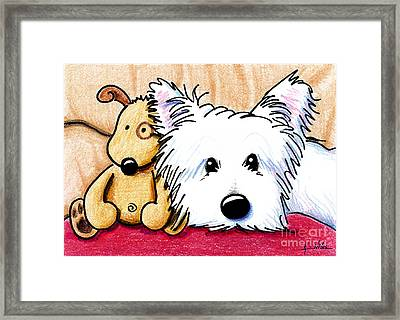 Ditto And Pudge Framed Print by Kim Niles